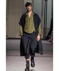 美品 17aw yohji yamamoto pour homme 2wayデザインミリタリーロングドレス