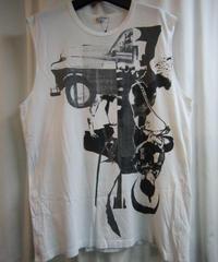 10ss yohji yamamoto pour homme プリントノースリーブTシャツ③ HJ-T84-068