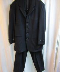 オールド 87aw yohji yamamoto pour homme  vintage 黒 ゼッケンセットアップ