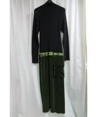95aw yohji yamamoto femme vintage ニット切替えワンピース FE-D22-437