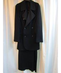 オールド 96aw yohji yamamoto femme Y's ニット切替デザインセットアップ