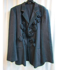 00aw yohji yamamoto pour homme 装飾デザインストライプジャケット