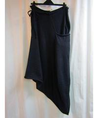 Y's yohji yamamoto femme 紺 ラップデザインアシメトリースカート