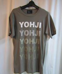 yohji yamamoto pour homme  yohji ロゴ入りカーキ カットソー