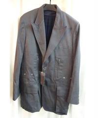 未使用 yohji yamamoto pour homme グレーデザインロングジャケット