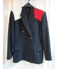 オールド 90aw yohji yamamoto femme Y's 切替デザインジャケット