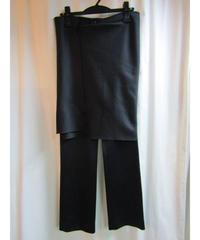 01aw yohji yamamoto femme 巻きスカート付パンツ FV-P21-905
