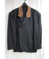 88ss yohji yamamoto pour homme vintage 茶襟 アイレットデザインジャケット