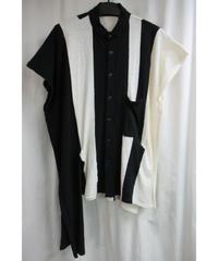 17ss B yohji yamamoto noir サイドベルトデザイン変形ブルゾン ND-V53-808