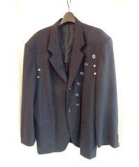 80'オールドyohji yamamoto pour homme 紺 vintage アイレットデザインジャケット