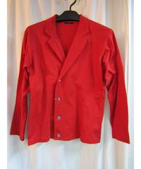 オールド Y's yohji yamamoto femme 赤コットンシンプル4ボタンジャケット