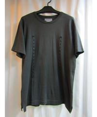 yohji yamamoto pour homme カーキ パンチングデザインTシャツ