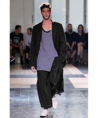 レア 2013ss yohji yamamoto pour homme 黒 デザイン変形ロングジャケット