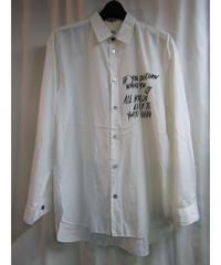 90's Y's yohji yamamoto vintage メッセージプリントデザインブラウス