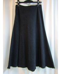 yohji yamamoto +noir femme 裾切りっぱなしAラインスカート
