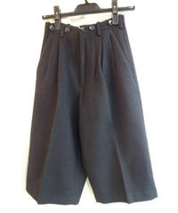 オールド80's yohji yamamoto femme 黒 丸文字サスペンダー釦付きパンツ
