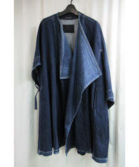 yohji yamamoto +noir Super Blue デニムポンチョ コート