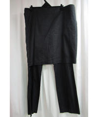 yohji yamamoto femme 麻 スカート付きデザインパンツ FO-P19-305
