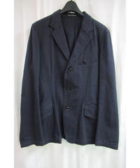 16ss yohji yamamoto pour homme 紺 バックファスナーデザインジャケット 4 HO-J71-042