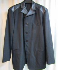 96aw オールドyohji yamamoto pour homme vintage レザー切替デザインジャケット