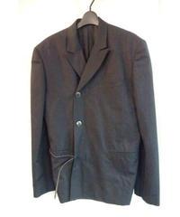 96aw yohji yamamoto pour homme レザーベルト付きジャケット