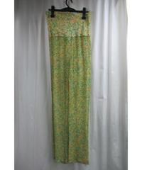 97ss yohji yamamoto femme vintage イエローシルクプリントパンツ