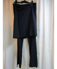 01aw yohji yamamoto femme 巻きスカート付パンツ FV-P21-142