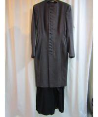 レア 94aw yohji yamamoto femme vintage デザイン切替ロングジャケット FV-J14-847