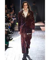 2015aw yohji yamamoto pour homme ベルベット墨汁 デザイン変形ジャケット