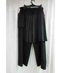 yohji yamamoto +noir ラップスカート付変形デザインパンツ NE-P03-818