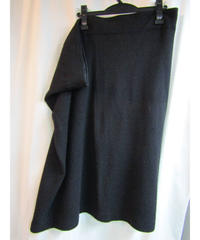 Y's yohji yamamoto femme サイドドレープニットボックススカート