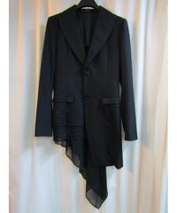 yohji yamamoto +noir femme アシメトリー レイヤードデザインジャケット