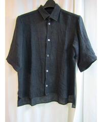 Y's yohji yamamoto シンプル シワ加工5分袖シャツ YX-B10-317