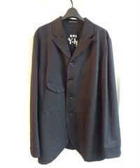美品 09aw yohji yamamoto pour homme 黒パチポケットロゴ入りジャケット
