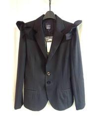 新品 LIMI yohjiyamamoto femme 肩羽付きデザイン黒ジャケット