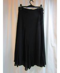 Y's yohji yamamoto femme 裾アシメトリーフレアスカート