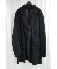 99aw yohji yamamoto pour homme vintage 黒 切りっぱなし加工ジャケット HN-J62-007