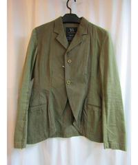 Y's yohji yamamoto  カーキ 素材切替デザインジャケット YJ-J29-045