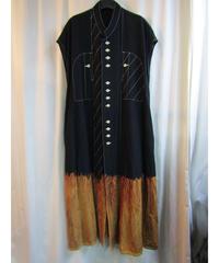 93aw yohji yamamoto femme vintage 製品染 ステッチデザインロングワンピース