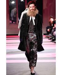 2013aw yohji yamamoto pour homme 黒 デザインロング変形プリーツジャケット