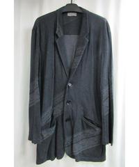 レア 13ss yohji yamamoto pour homme デザインプリントロングカットソージャケット HX-T71-558