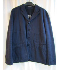 09aw 美品 yohji yamamoto pour homme 紺パチポケットロゴ入りジャケット