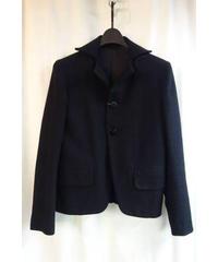 Y's yohji yamamoto femme 黒 変形襟デザインジャケット