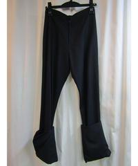 96ss yohji yamamoto femme vintage 裾ダブルシンプルパンツ