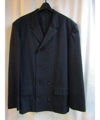 90's オールドyohji yamamoto pour homme vintage 紺 四つ釦ボックスジャケット