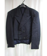 AD1988 COMME des GARCONS HOMME PLUS 紺 ダブルショートジャケット