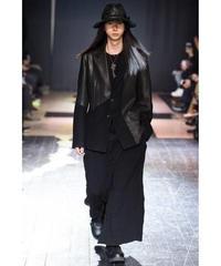 15aw yohji yamamoto pour homme レザー切り替えデザインジャケット