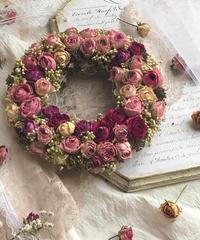 薔薇のクラシカルリース