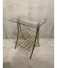 ヴィンテージ ガラストップ サイドテーブル