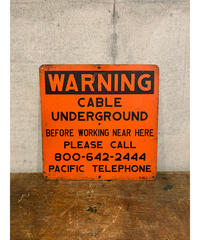 Cable Underground Warning メタルサイン ①
